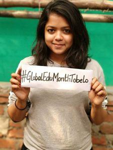 Sophie dari India turut berpartisipasi di #GlobalEduMonthTobelo